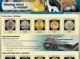 Internetový katalog mincí - úvodní stránka
