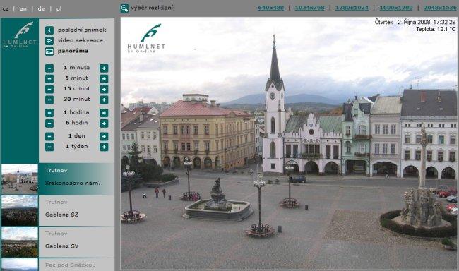 Webové kamery HumlNET