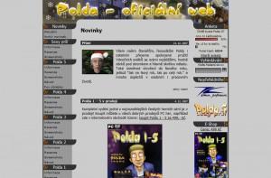 Původní design oficiálního Polda webu
