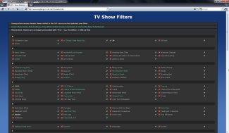 TV Calendar - nastavení filtru