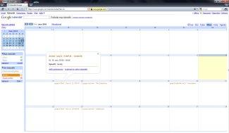 Importovaný kalendář v Google Calendar