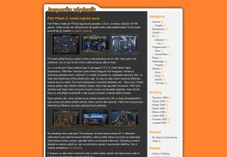 Původní design blogu
